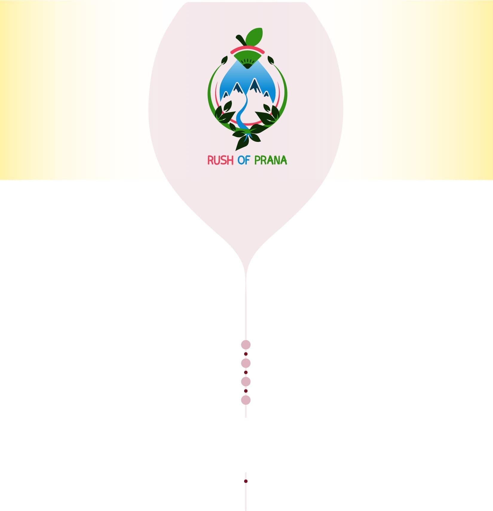 background with Rush of Prana logo